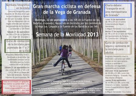 Programa de actividades de Semana de la Movilidad 2013 en Granada Cartel-semana-movilidad