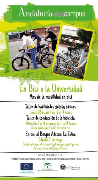 Cartel talleres bici