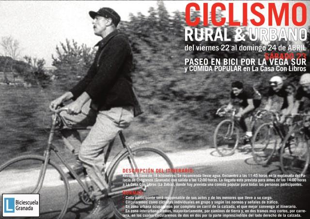 cartel paseo bici
