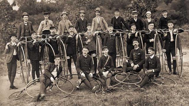 Wheelmen (and a woman?) 1895